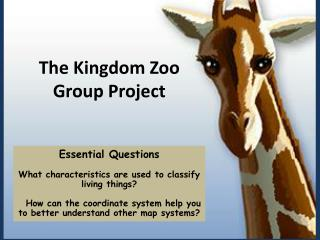 Essential  Questions What  characteristics are used to classify living things?