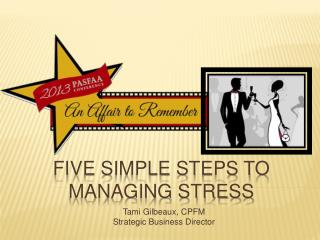 Five Simple Steps to Managing Stress