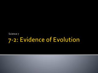 7-2: Evidence of Evolution