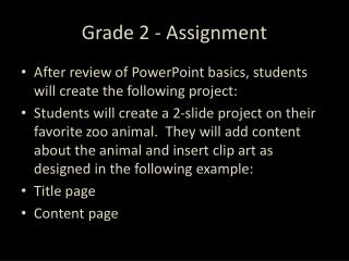 Grade 2 - Assignment