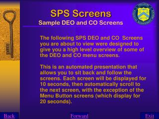 SPS Screens Sample DEO and CO Screens