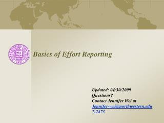 Basics of Effort Reporting