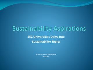 Sustainability Aspirations