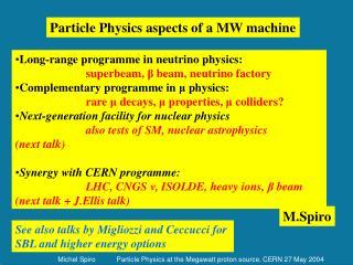 Long-range programme in neutrino physics: superbeam,  ?  beam, neutrino factory