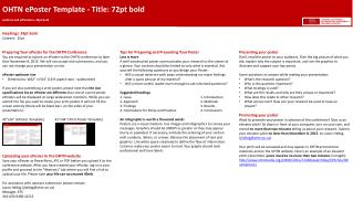 OHTN ePoster Template - Title: 72pt bold Authors and affiliations: 28pt bold