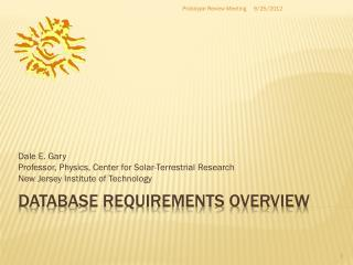 Database requirements overview