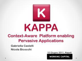 KAPPA Context-Aware   Platform  enabling  Pervasive Applications