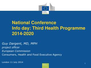 National Conference Info day: Third Health Programme 2014-2020