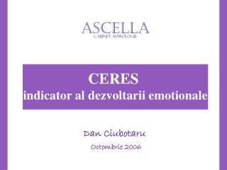 CERES  indicator al dezvoltarii emotionale