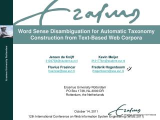 Word Sense Disambiguation for Automatic Taxonomy Construction from Text-Based Web Corpora
