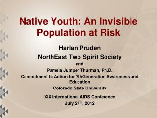 Native Youth: An Invisible Population at Risk