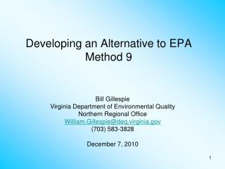 Developing an Alternative to EPA Method 9