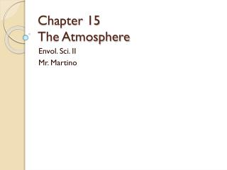Chapter 15 The Atmosphere