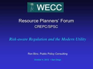 Resource Planners' Forum  CREPC/SPSC