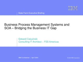 Business Process Management Systems and SOA – Bridging the Business IT Gap