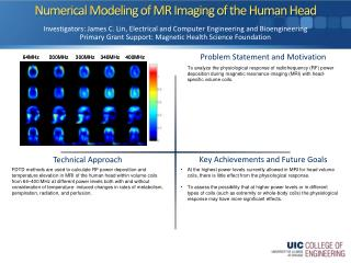 Numerical Modeling of MR Imaging of the Human Head