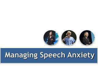 Managing Speech Anxiety
