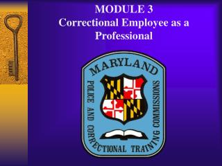 MODULE 3 Correctional Employee as a Professional
