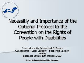 Presentation at the International Conference