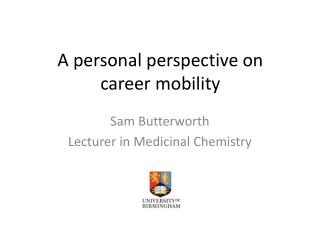 A personal perspective on career mobility