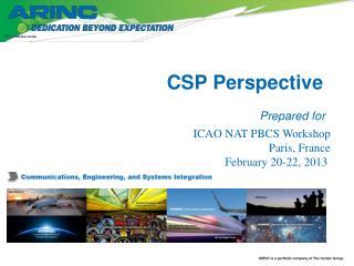 CSP Perspective
