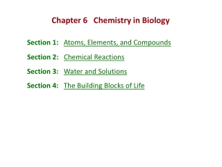 Ch. 3 The Chemical Building Blocks of Life