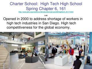 Charter School:  High Tech High School Spring Chapter 6, 161