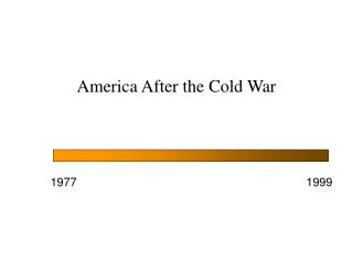 America After the Cold War