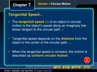 Tangential Speed