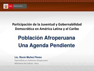 Participación de la Juventud y Gobernabilidad Democrática en América Latina y el Caribe