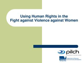 Using Human Rights in the  Fight against Violence against Women