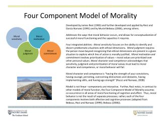 Four Component Model of Morality