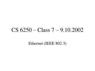 CS 6250