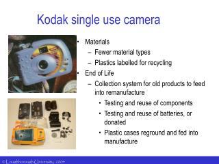 Kodak single use camera
