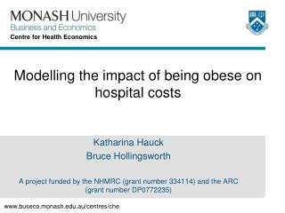 Modelling the impact of being obese on hospital costs