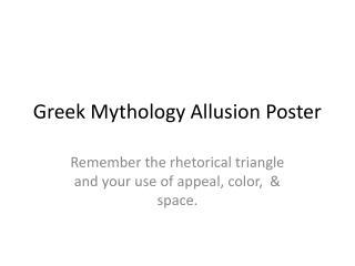 Greek Mythology Allusion Poster