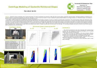 Centrifuge Modeling of Geotextile Reinforced Slopes