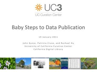 Baby Steps to Data Publication