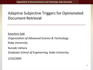 Adaptive Subjective Triggers for Opinionated Document Retrieval