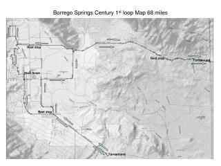 Borrego Springs Century 1 st  loop Map 68 miles