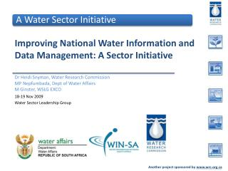 Improving National Water Information and Data Management: A Sector Initiative