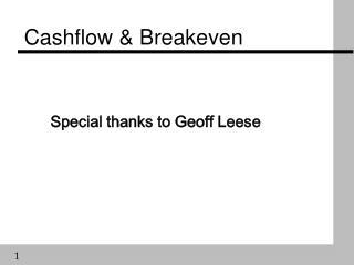 Cashflow & Breakeven