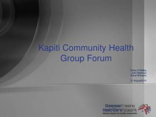Kapiti Community Health  Group Forum