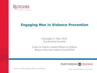 Engaging Men in Violence  Prevention