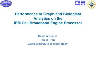 Performance of Graph and Biological Analytics on the  IBM Cell Broadband Engine Processor