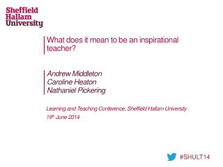 What does it mean to be an inspirational teacher ?