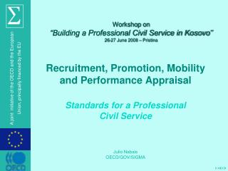 "Workshop on ""Building a Professional Civil Service in Kosovo"" 26-27 June 2008 –  Pristina"