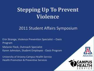 Stepping Up To Prevent Violence