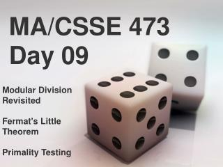 MA/CSSE 473 Day 09