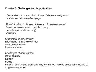 Chapter 5: Challenges and Opportunities